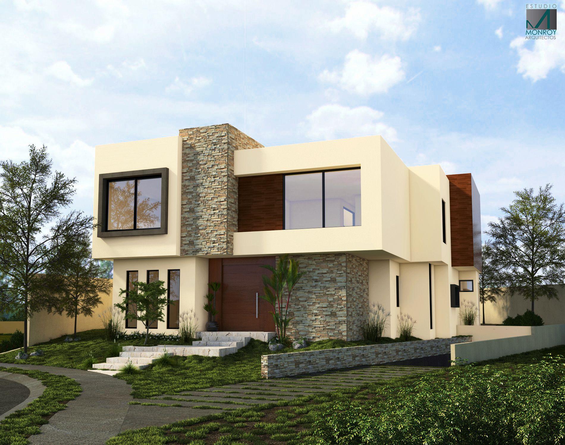 Residencia contemporanea fachada casa residencial pa 08 for Casa contemporanea