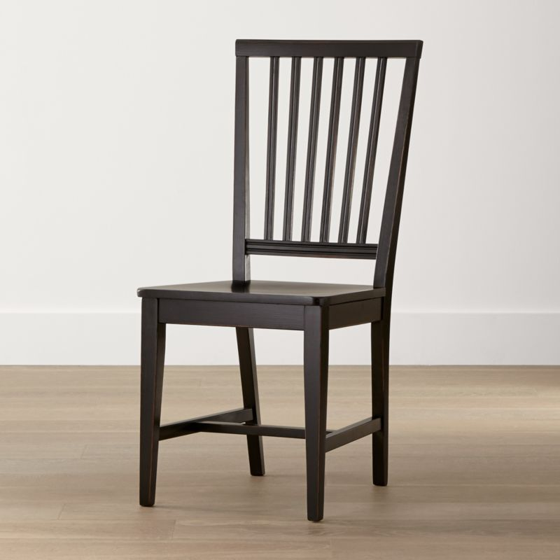 Village Bruno Black Wood Dining Chair Reviews Crate And Barrel