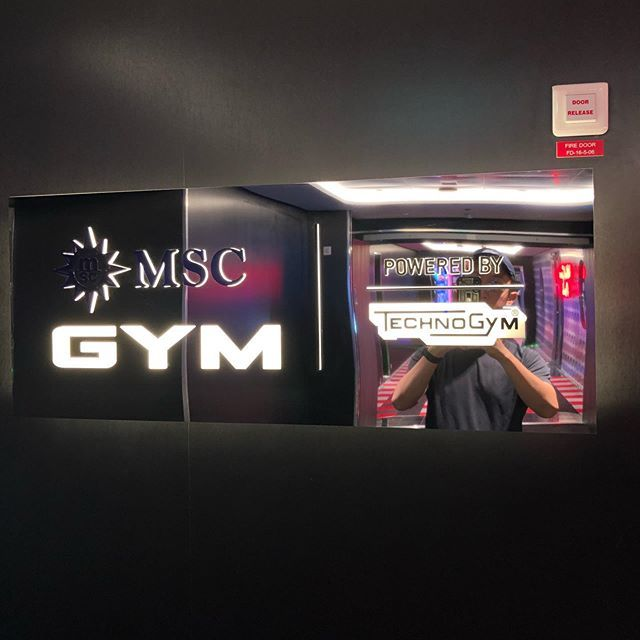 #msc #mscgrandiosa #cruise #gym #fitness #technogym #cruiselife #cruiselover #mediteranean #rome #it...