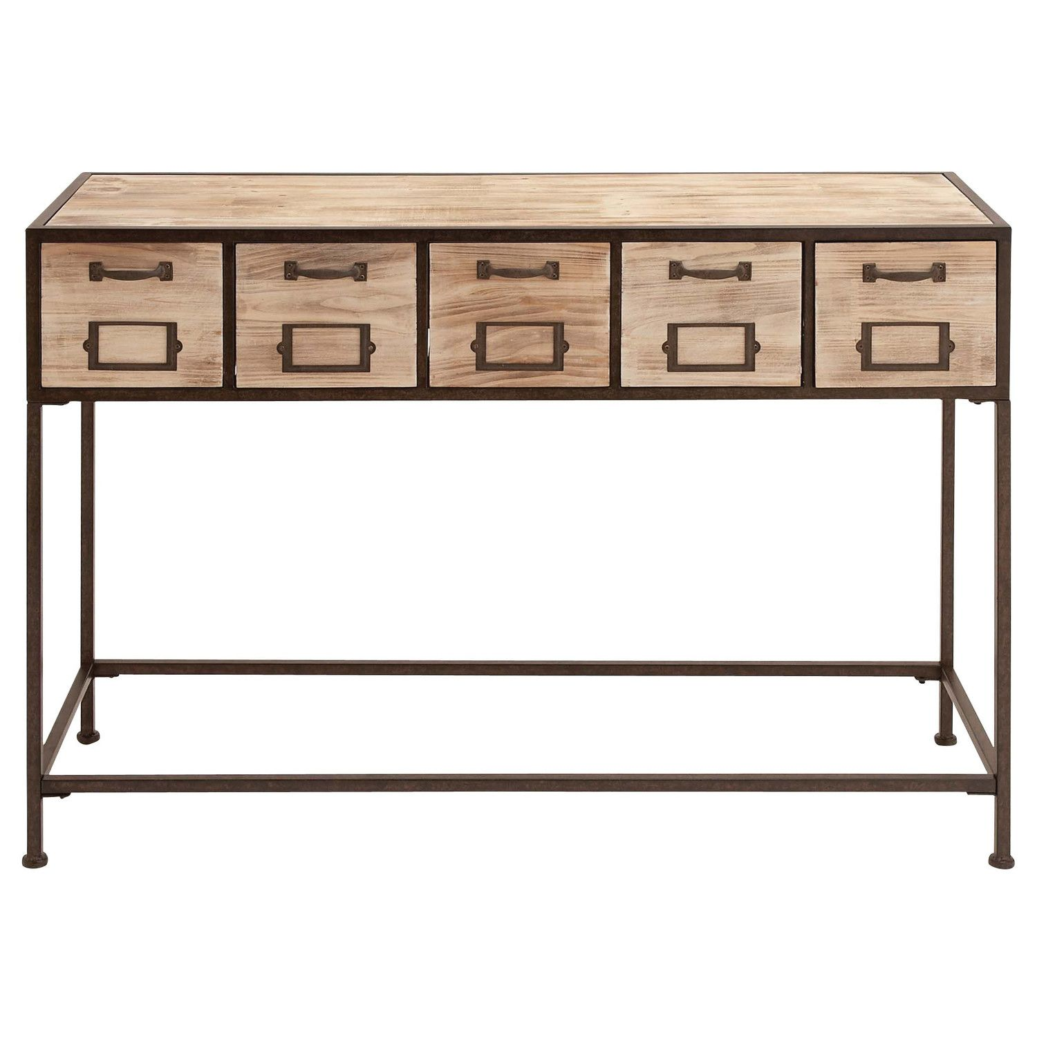 Woodland Imports Console Table Ii Wood Console Table Metal