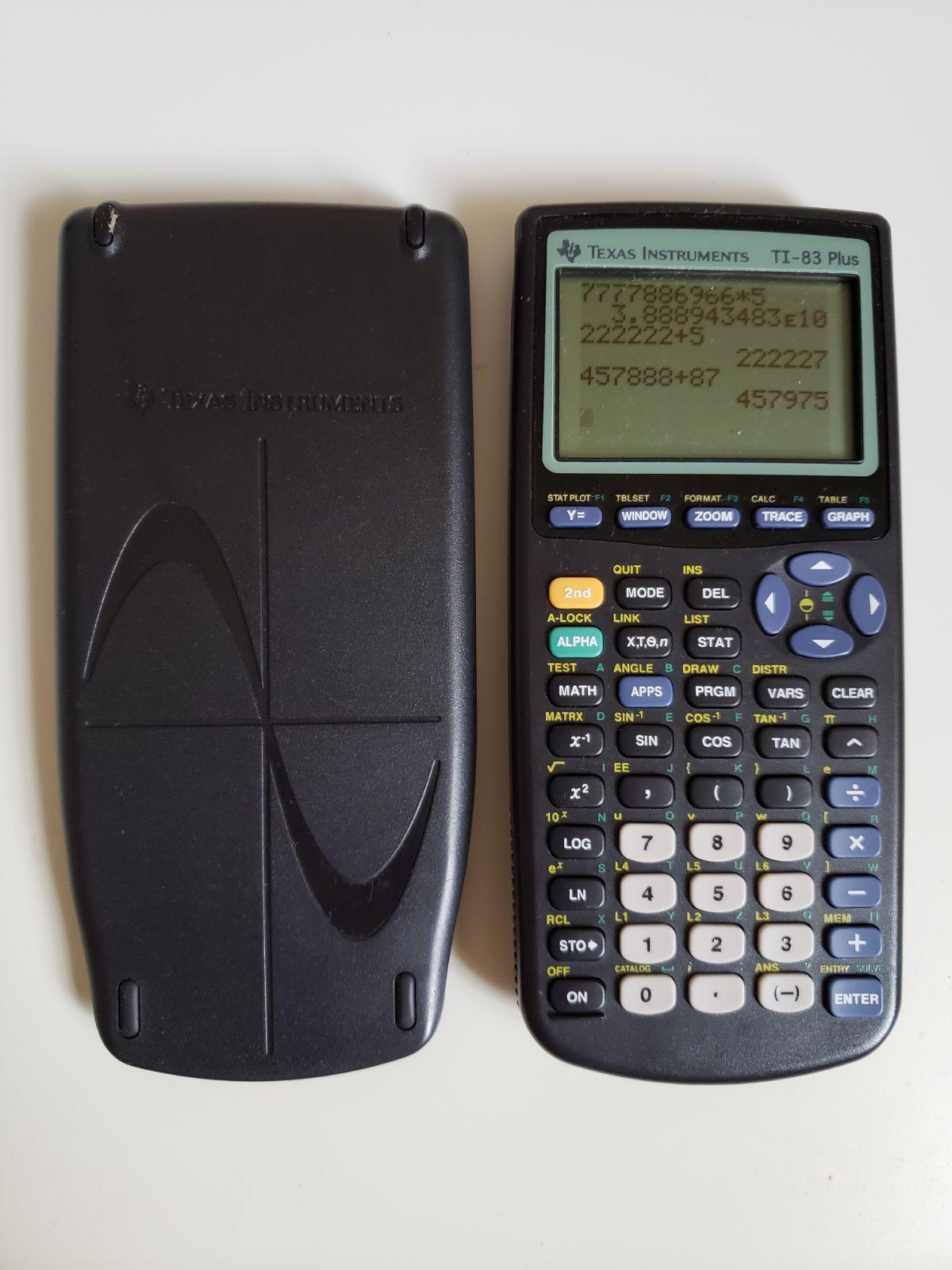 Ti 83 Plus Graphing Calculator On Mercari Graphing Calculator Math Apps Graphing