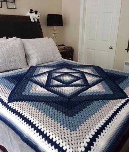 Photo of Squared Diamond Granny Throw & written pattern – Crochet Ideas #crochettutorial …
