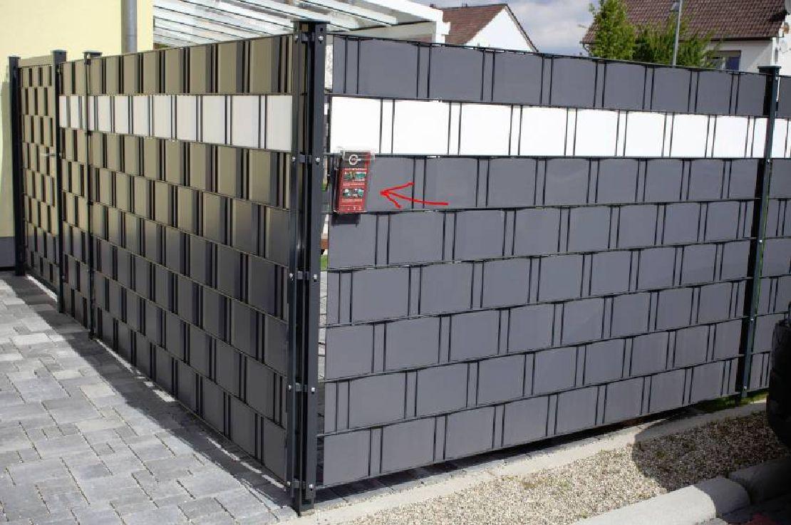 referenzbeispiel sichtschutzzaun m tec sichtschutzz une pinterest fence garden and. Black Bedroom Furniture Sets. Home Design Ideas