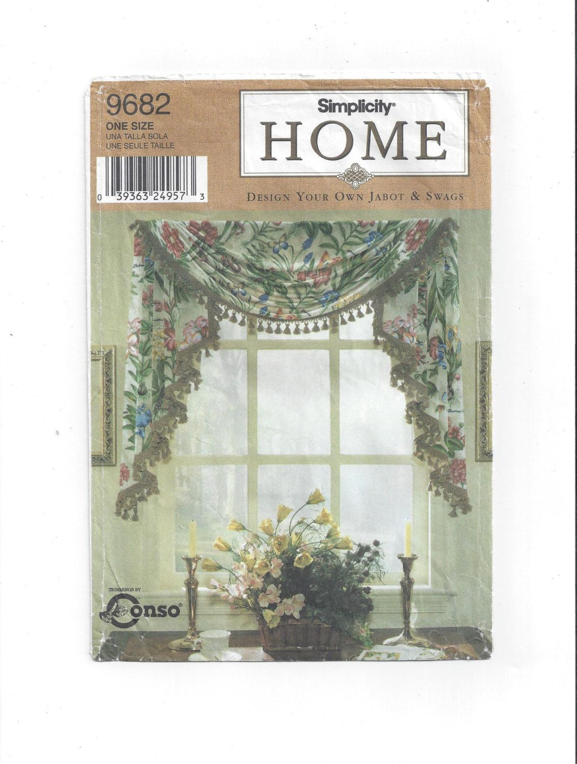 Simplicity 9682 Pattern for 5 Country Window Treatments, Festoon ...