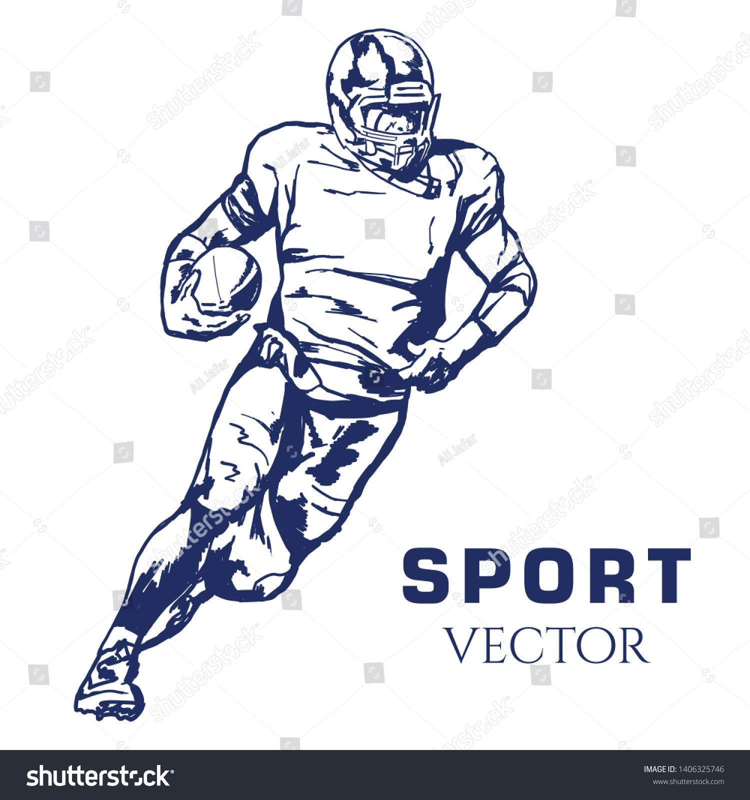 American Football Vector Sport Vector Stock Vector Royalty Free 1406325746 American Americanfootballaesthetic Football Free Royalty Sport Stock Vect In 2020