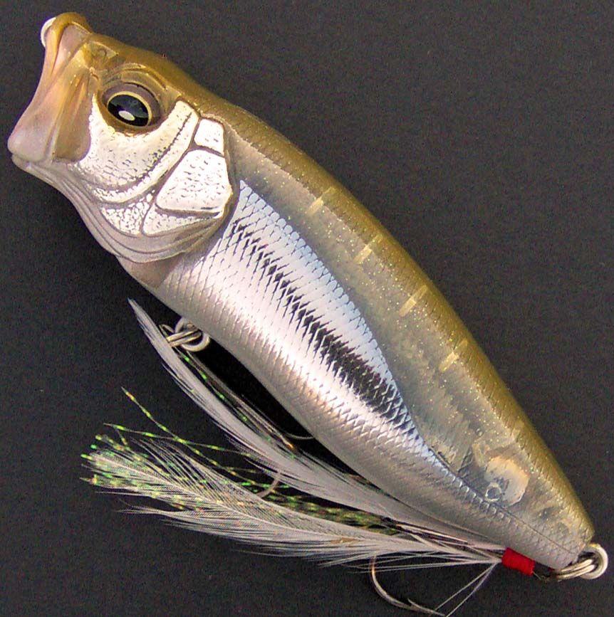 """Megabass Pop-X 2 1//2/"""" Topwater Popper Bass /& Striper Fishing Lure 1//4 oz"""