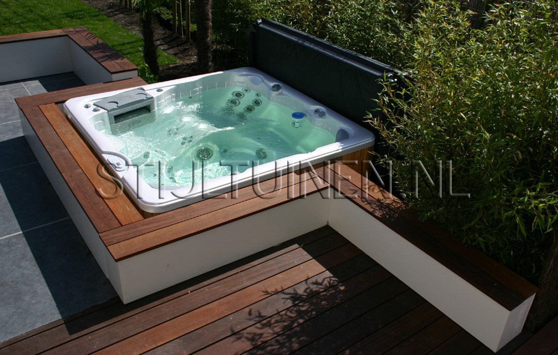 yakuzi pool garten zuhause image idee. Black Bedroom Furniture Sets. Home Design Ideas