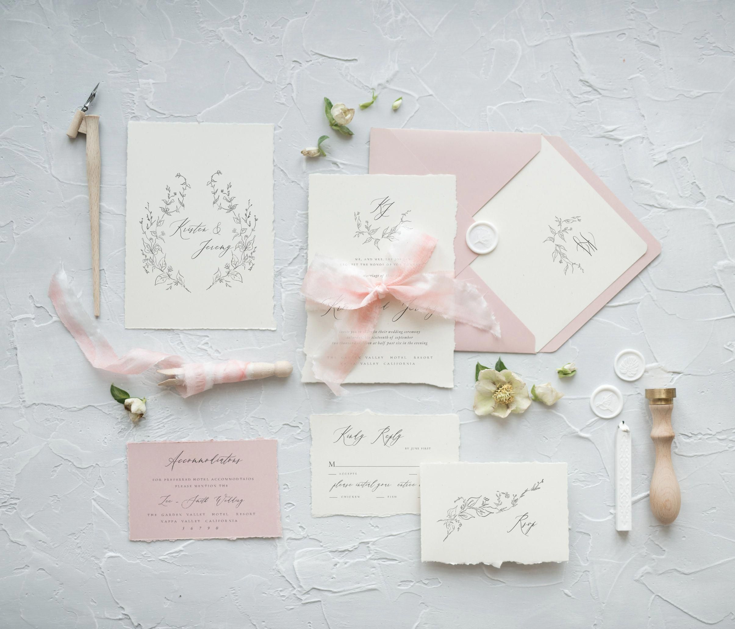 Completely Customized Handmade Wedding Invitations Let Our Designers Create Calligraphy Wedding Invitation Wedding Invitations Minimalist Wedding Invitations