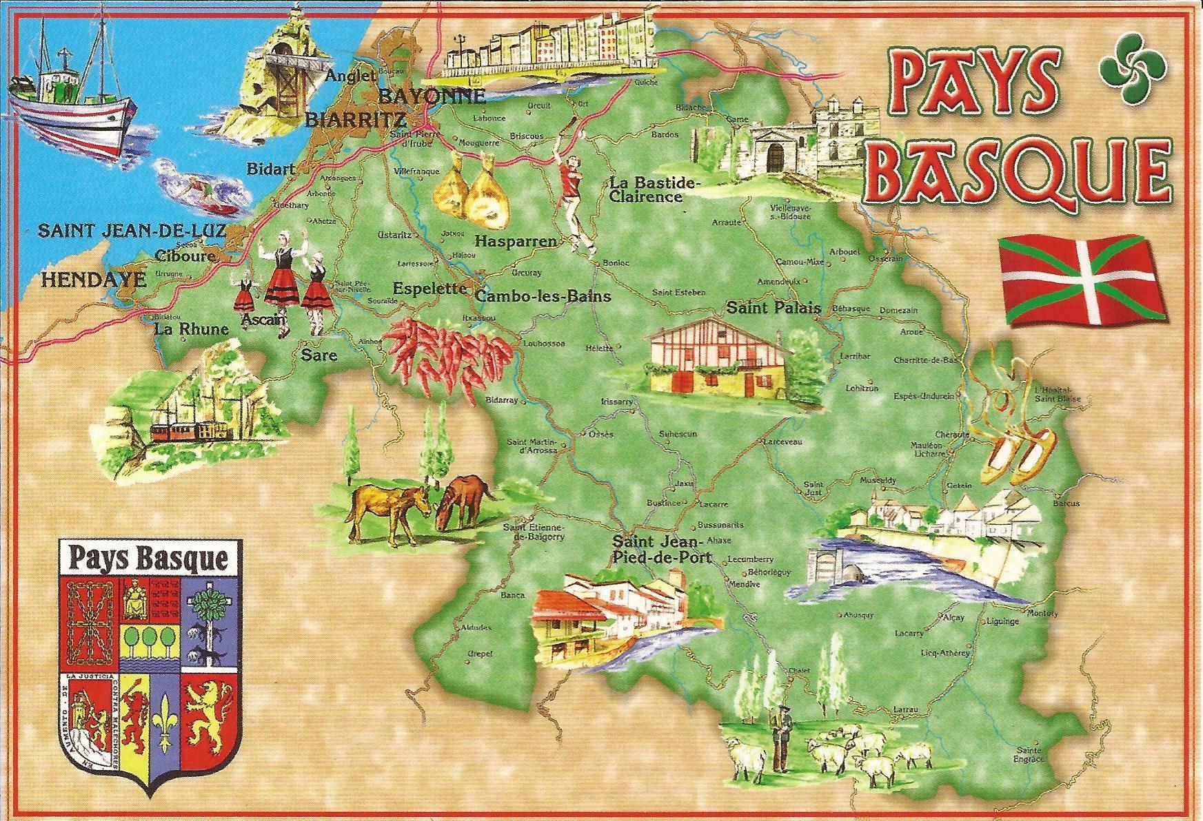carte pays basque français et espagnol 5xx Error (avec images) | Pays basque, Basque, Pays