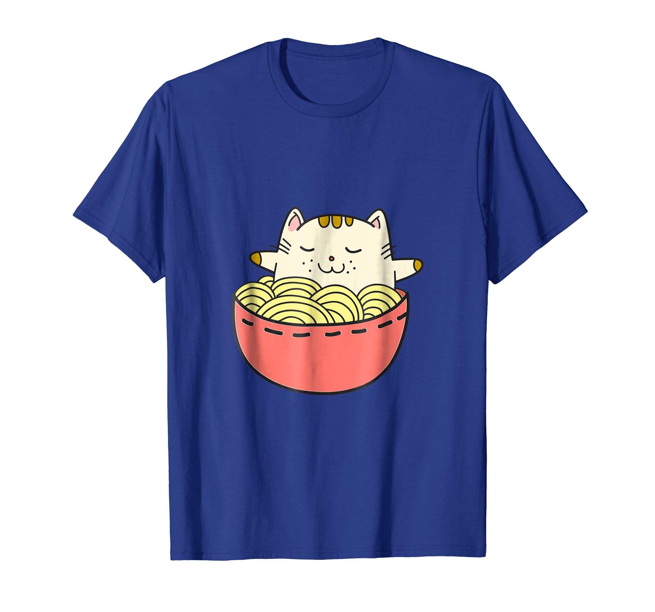 Adorable Kawaii Japanese anime cat in a ramen