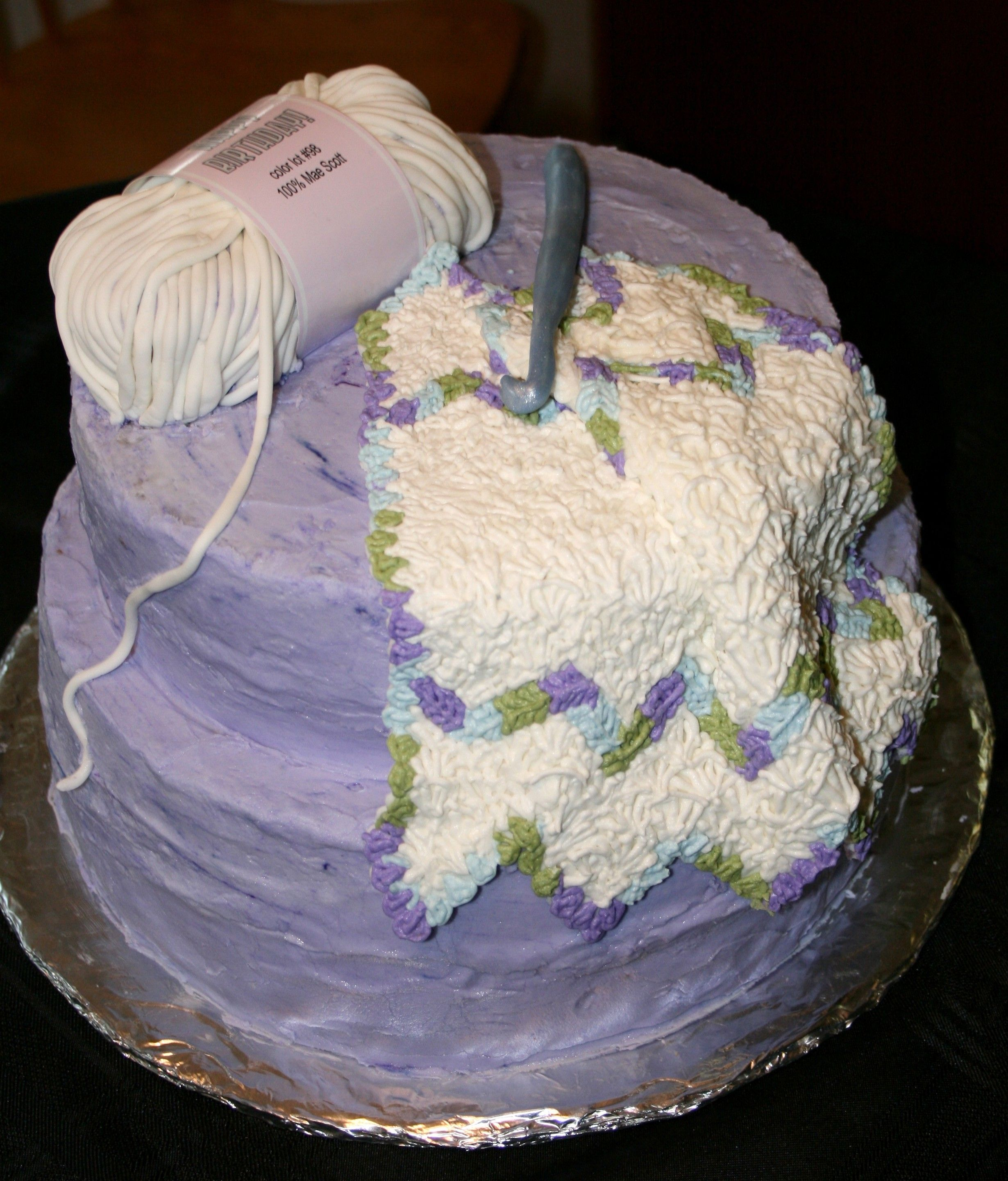 Crochet Cake, this is what i want for my birthday ...