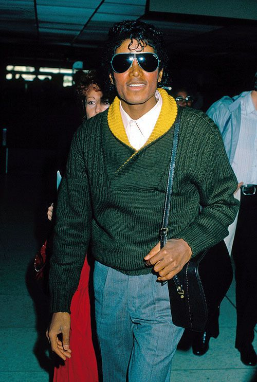 Michael Jackson In A Green And Yellow Sweater I Love The Jackson