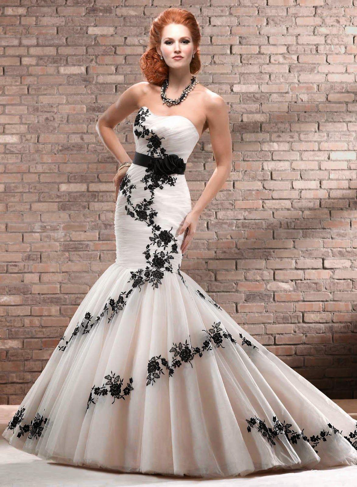 Vestidos de Novia con Flores Negras, parte 3 | Novias | Pinterest ...