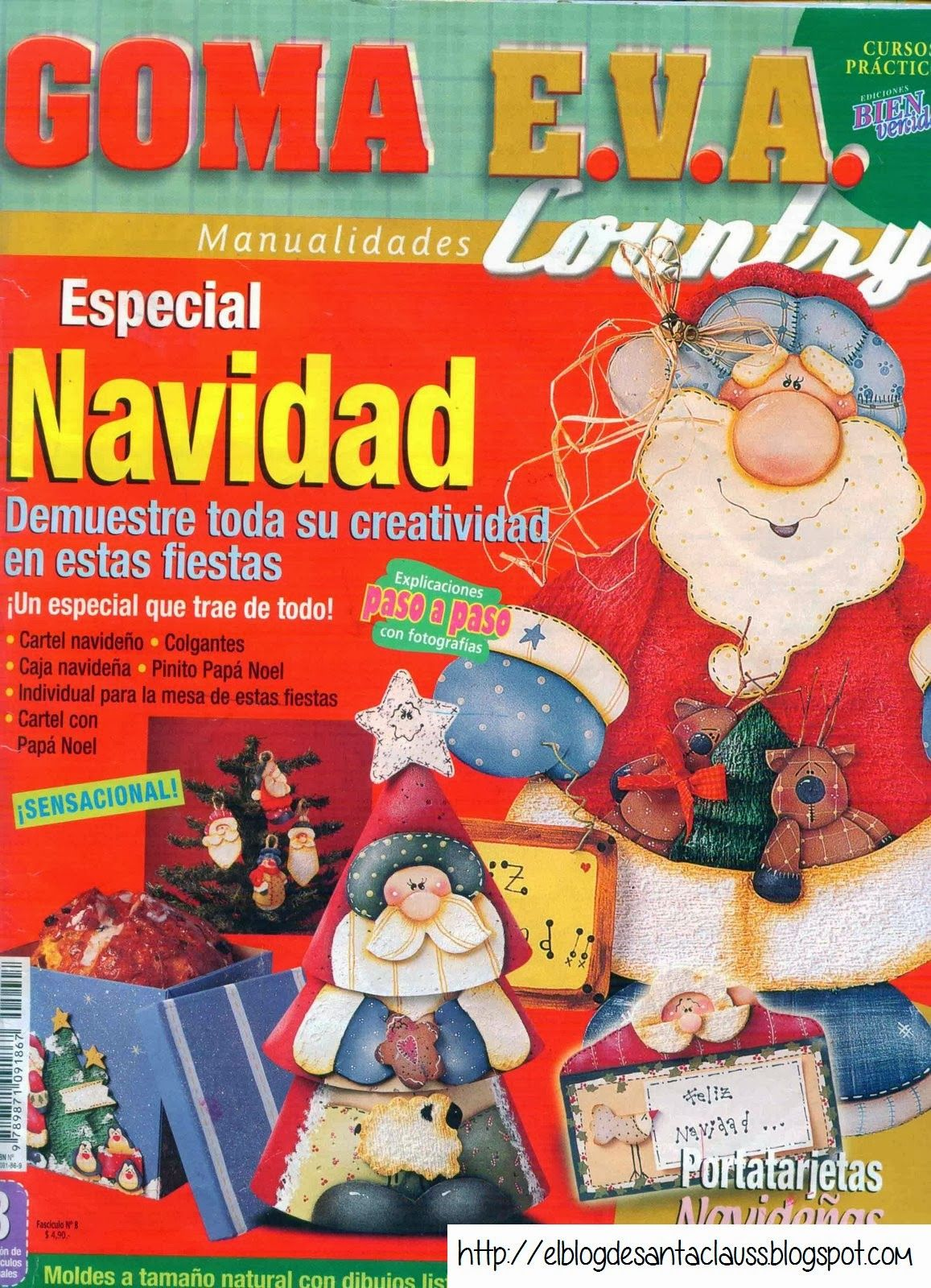 Revista para navidad en goma eva cosas de navidad goma - Manualidades navidad goma eva ...