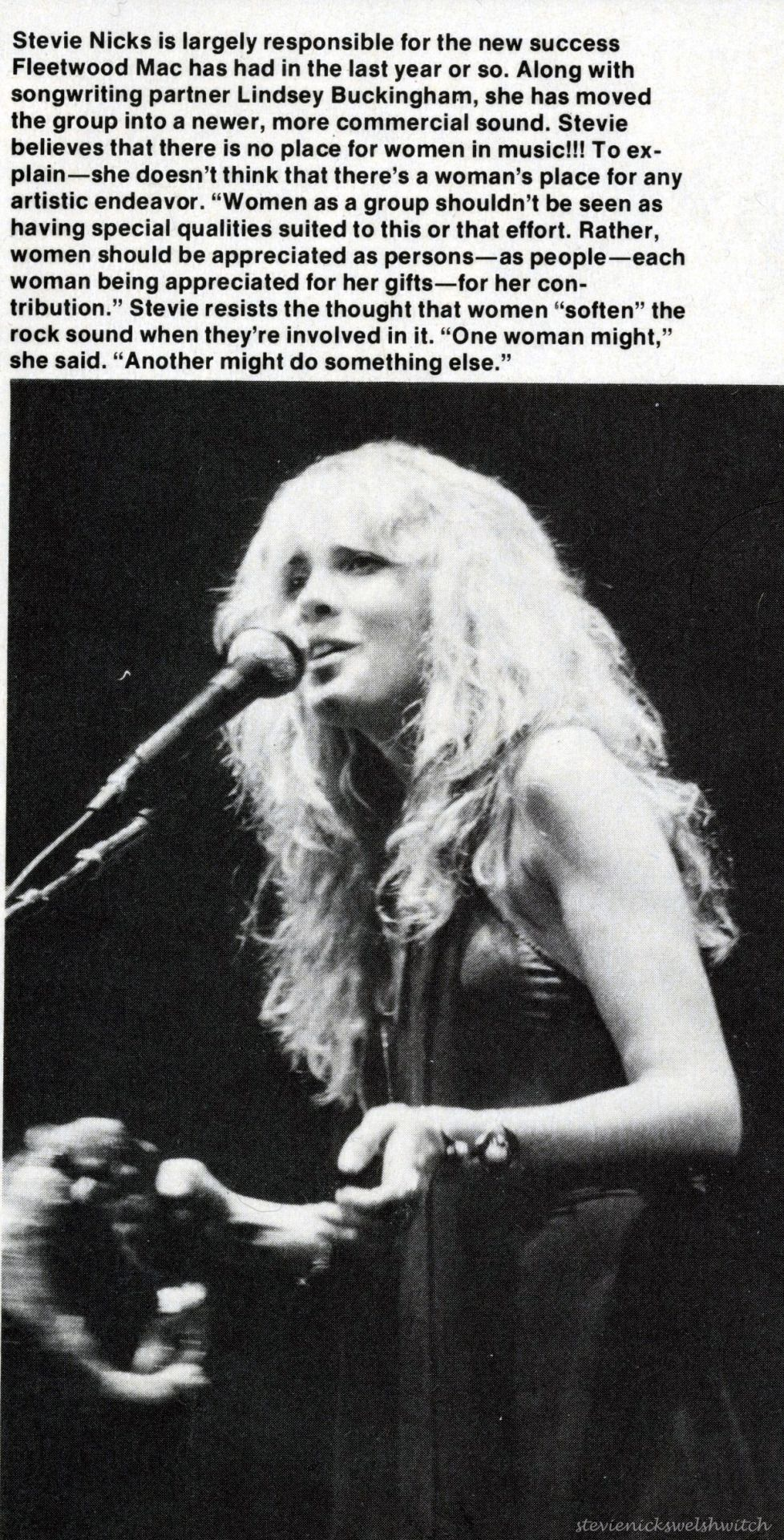 Stevie Nicks and Fleetwood Mac I DO NOT OWN, OR CLAIM