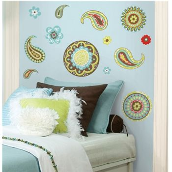 Roommates paisley peel stick wall decals at menards