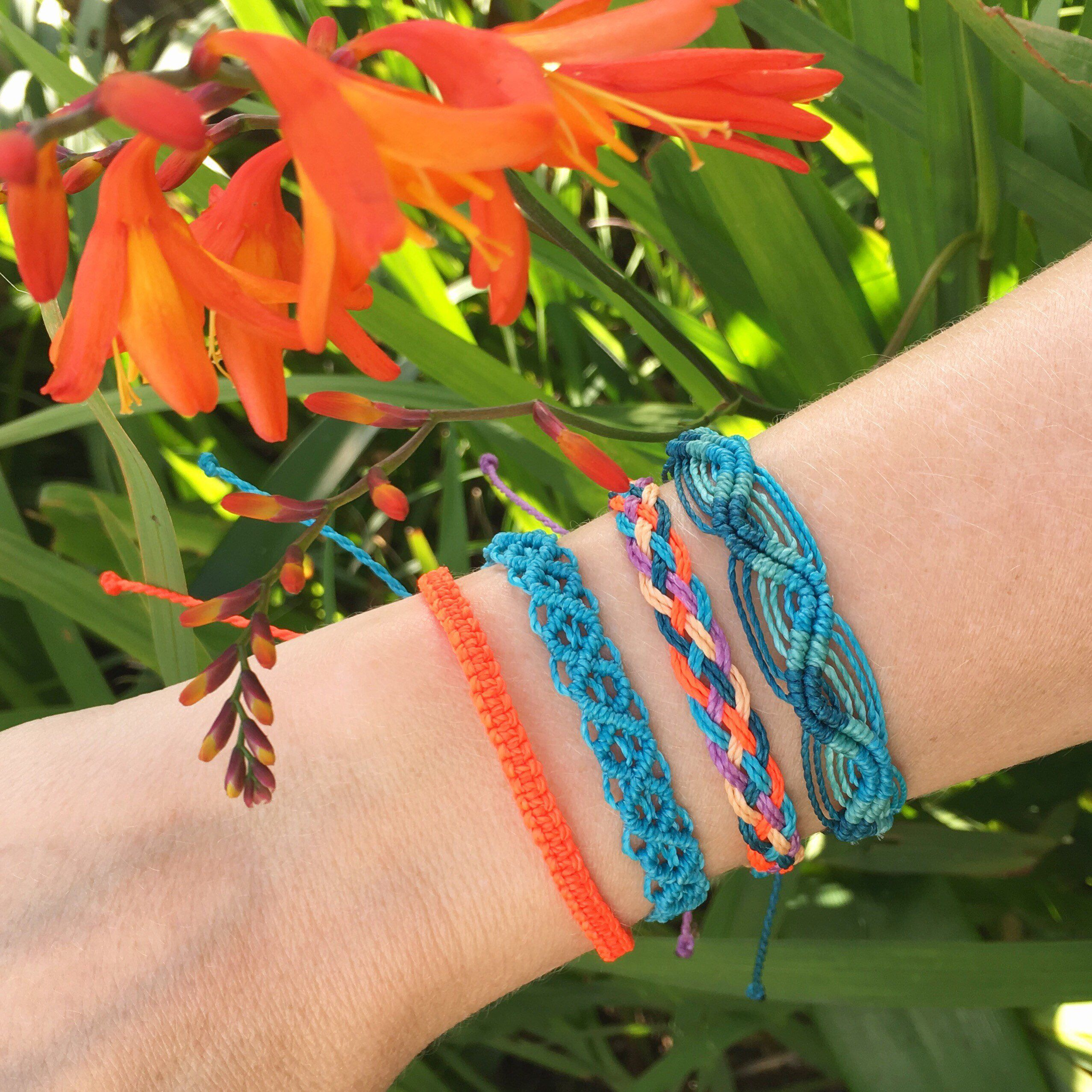 TROPICAL BRACELET SET Beach bracelet stack Surf jewelry