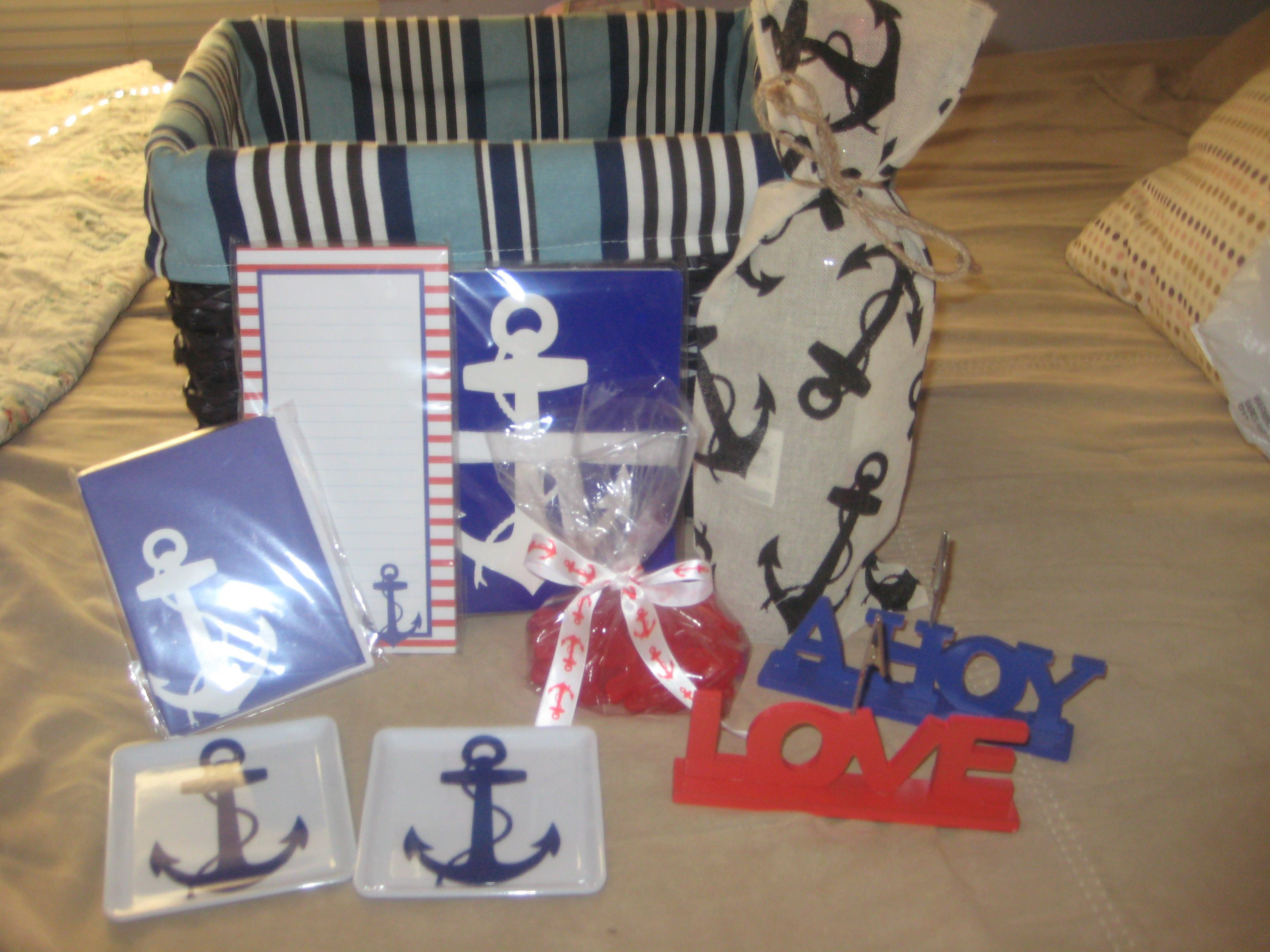 nautical gifts basket ideas gift basket themed weddings bachelorette ...
