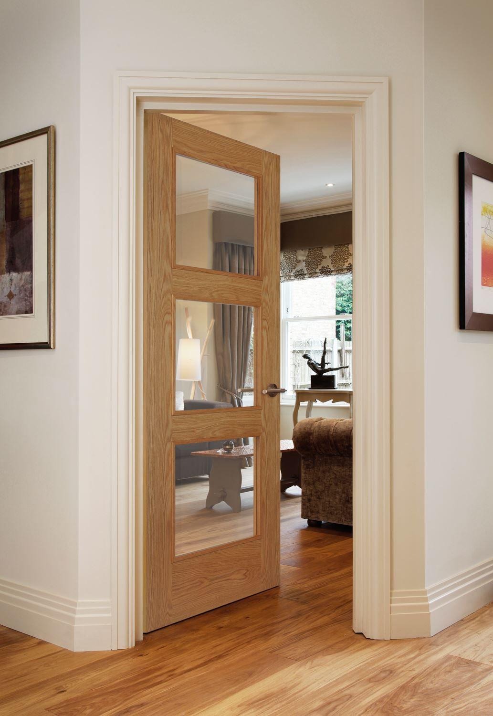 Almeria 3 Light Oak Oak Interior Doors Doors Interior Internal Glass Doors
