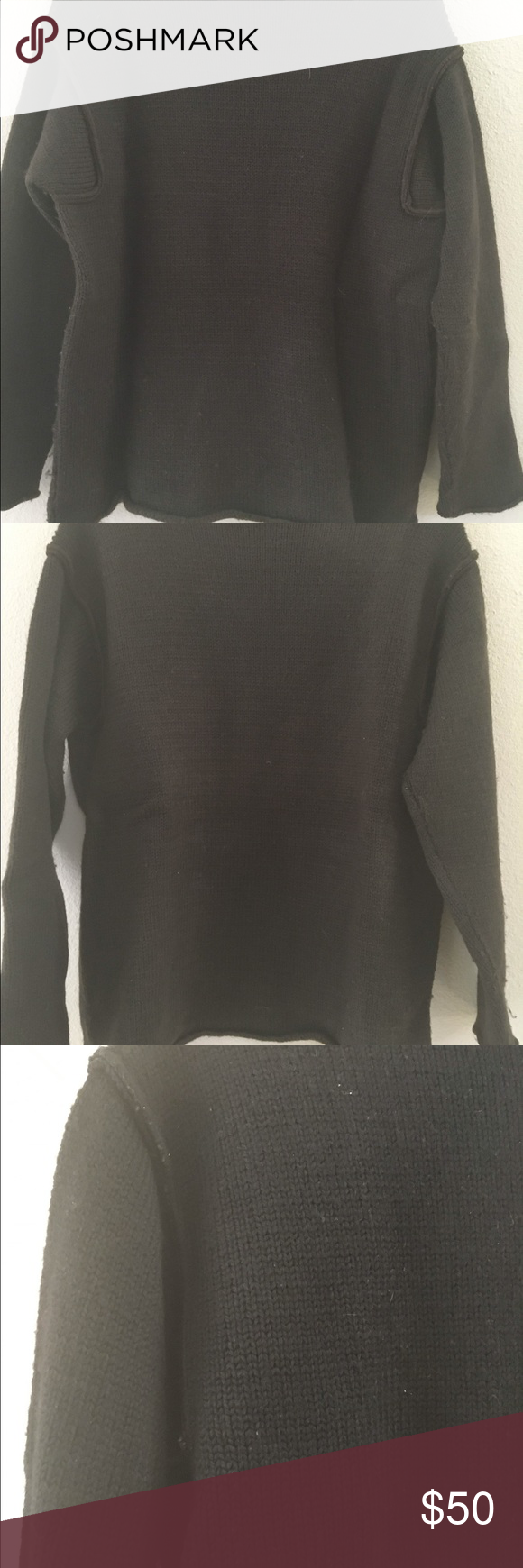 Brown 💯/-% wool oversized sweater insert sleeves Beautiful 💯 % wool sweater by Anvers , oversized style inserted sleeves anvers Tops