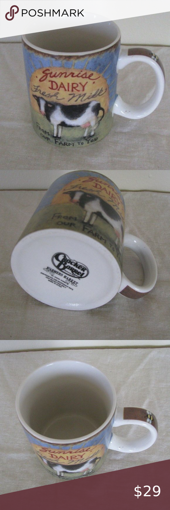 Cracker Barrel Farmers Market 14 Oz Coffee Mug Cracker Barrel Coffee Mugs Mugs