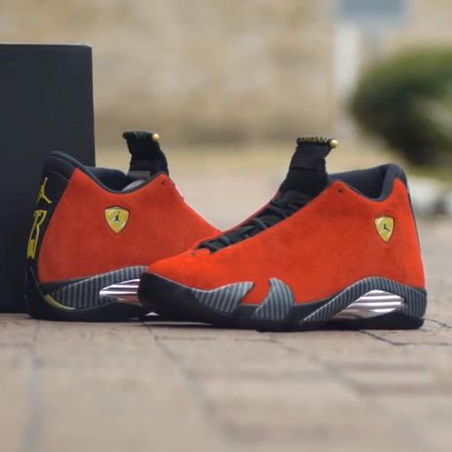 Unboxing Air Jordan 14  Ferrari   1e56d5449
