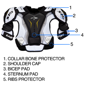 Hockey Shoulder Pad Sizing Guide | Hockey | Hockey shoulder