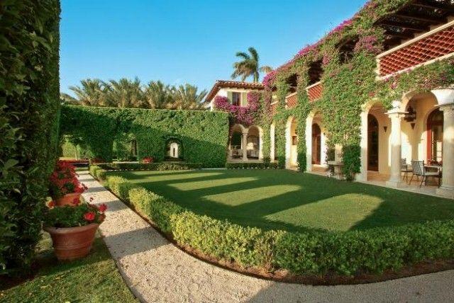 modernes haus mit garten mit pool italienischen stil mediterrane und exotische pflanzen g rten. Black Bedroom Furniture Sets. Home Design Ideas
