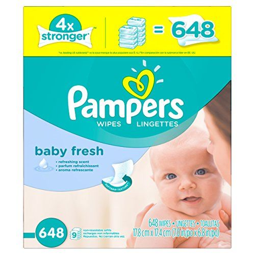216 Count 3X Refill Packs Natural Clean UNSCENTED Pampers Baby Wipes