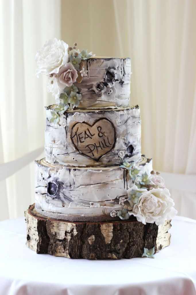 Pin By Torta Ivanjica On Ideje Za Svadbene Torte Pinterest - Tree Trunk Wedding Cake