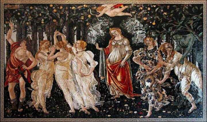 Primavera. Sandro Botticeli, 1478-83 Fresco, painted for the ...