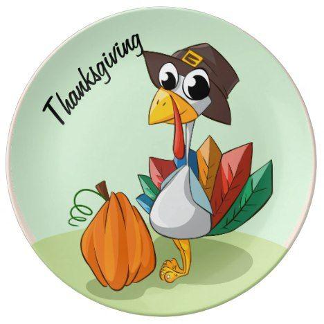 Turkey for Thanksgiving Dinner Plate in 2018 Thanksgiving