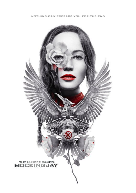 The Hunger Games Mockingjay Movie Poster by BlackheartPrintsUK
