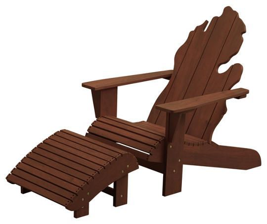 Show Your True Michigan Spirit With This One Of A Kind Michigan Chair.