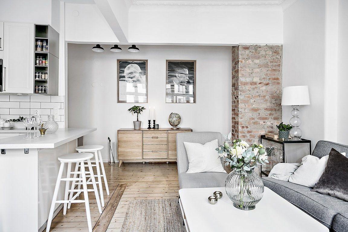 Cocina abierta en un piso pequeño | Small open kitchens, Open layout ...