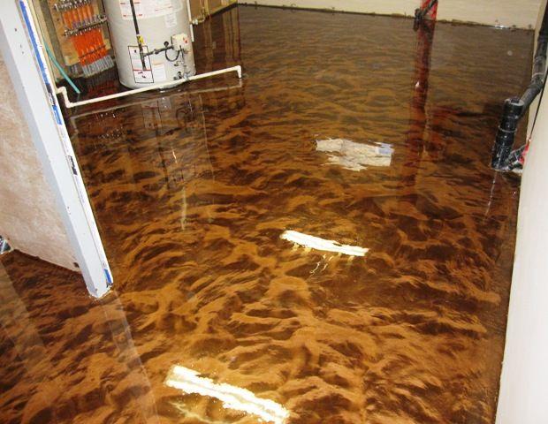 Metallic Epoxy On Basement Floor Amp Polyurea Paint Chip