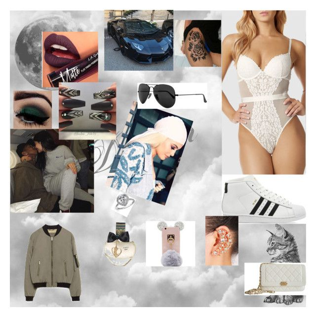 """""""SHE"""" by nikoleta-nicky-malik ❤ liked on Polyvore featuring Fiebiger, La Senza, Zara, Chanel, adidas, Aéropostale, Ray-Ban and Bling Jewelry"""