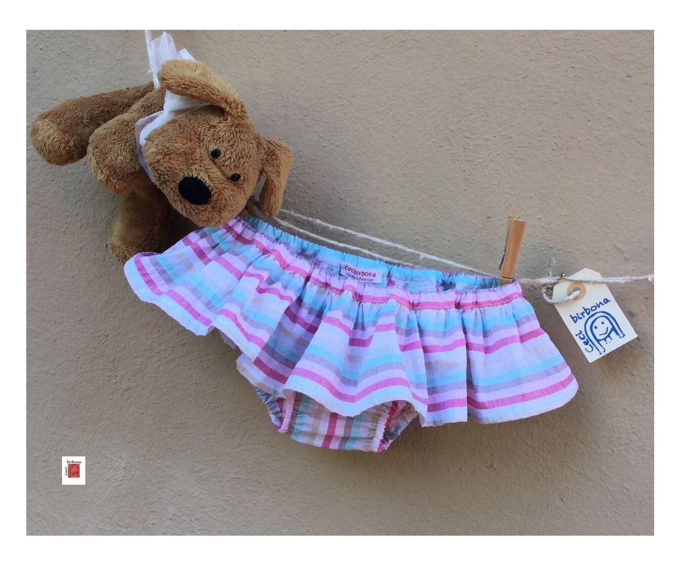 Costume da mare con balza arricciata per bambina - Cecibirbona : Moda bambina di cristianarossini
