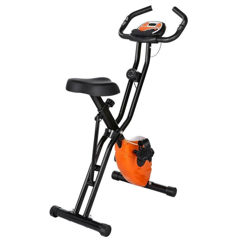 Ad Ebay Folding 10 Levels Magnetic Resistance Upright Exercise