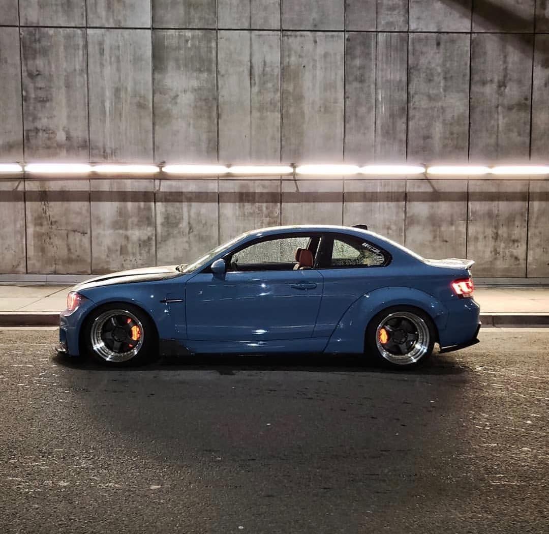 Bmw E82 1 Series Blue Widebody Bmw Bimmer Bmw Car