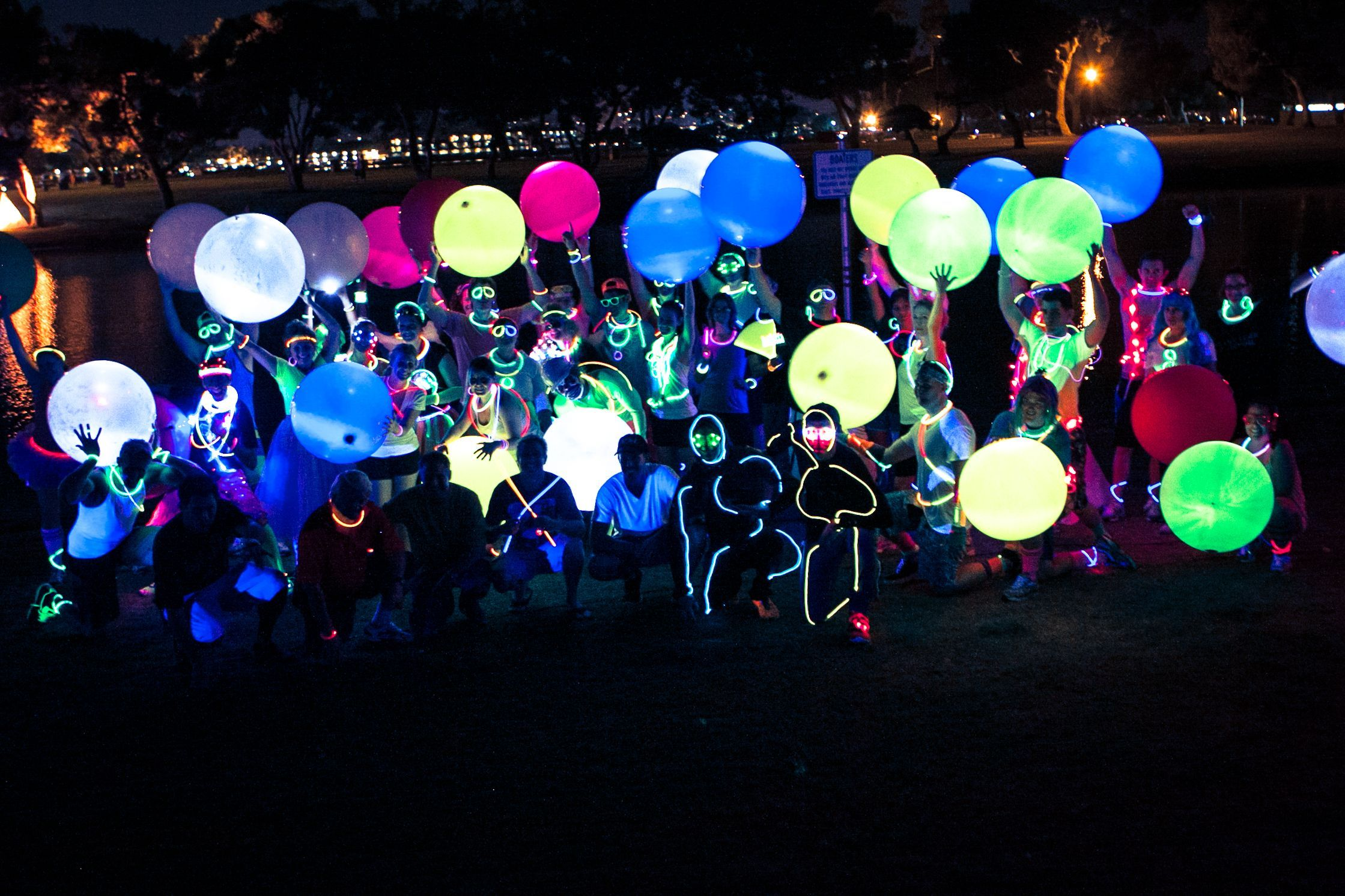 Electric Run Celebration Electric Run Glow Run Creative Event