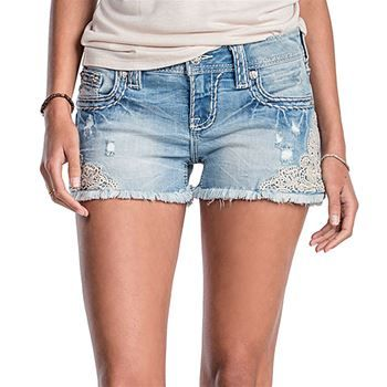 Miss Me Women's Lace Be A Lady Shorts