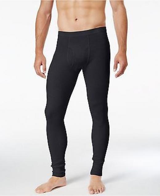 37cadf23b Alfani $60 Men's Thermal Pant Black Long Johns Base Layer Bottoms ...