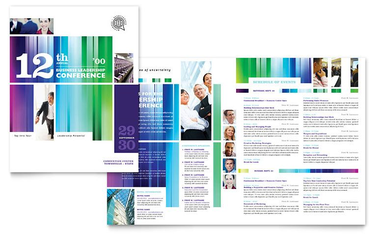Pin by Loren DePalma Design \ Branding on graphic design - conference brochure template