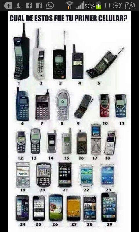 Historia De Celulares Telefonos Celulares Telefono Viejo Celulares Antiguos