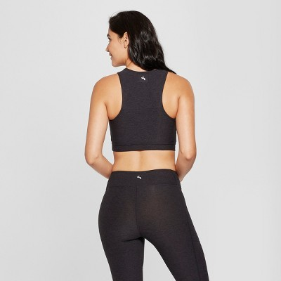 women's high neck long line sports bra crop top  joylab