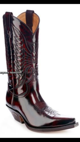 SENDRA 2073 Florentic Fuchsia Real Leather Cowboy Western