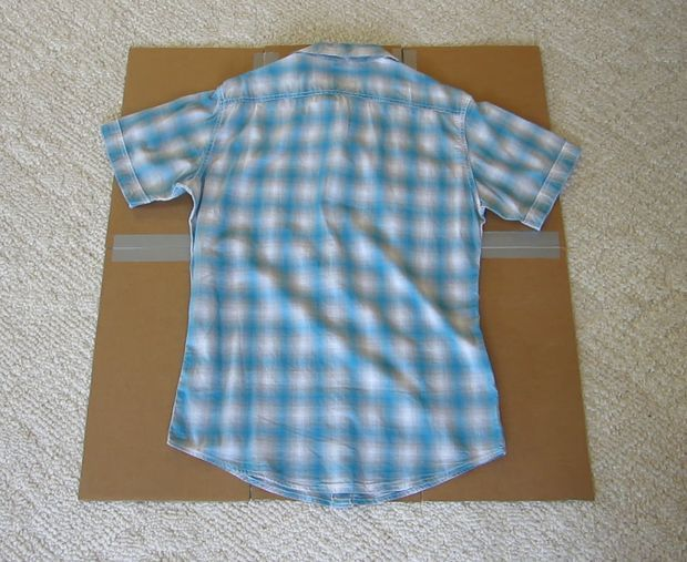 Shirt Folding Board From Cardboard And Duct Tape Dobradura De