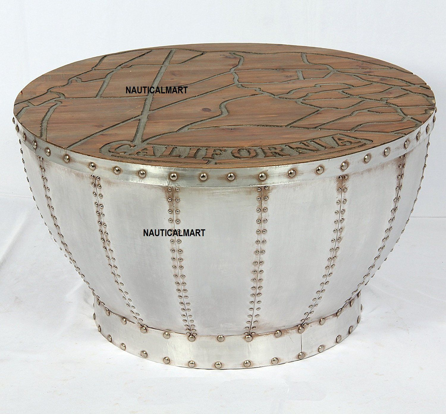 Coffee Table Industrial Used Design Table Retro Round Furniture