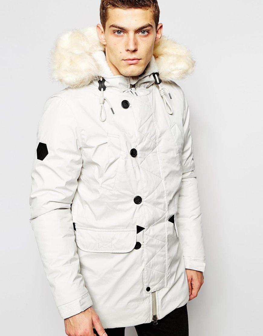 512f2a433f4 Coats for Men. Bellfield Arctic Parka with Faux Fur Hood
